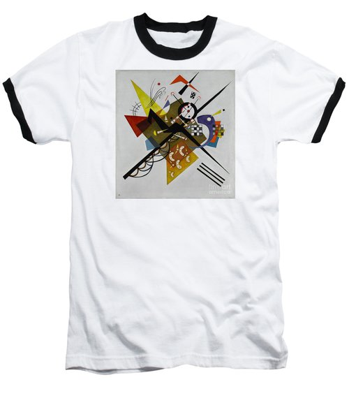 White Baseball T-Shirt by Kandinsky