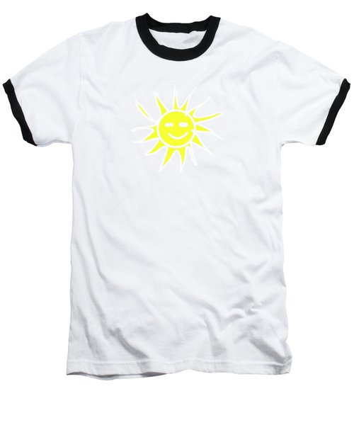 white lines on transparent background - detailv3-10.3.Islands-1-detail-Sun-with-smile Baseball T-Shirt