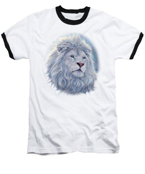 White Lion Baseball T-Shirt by Lucie Bilodeau