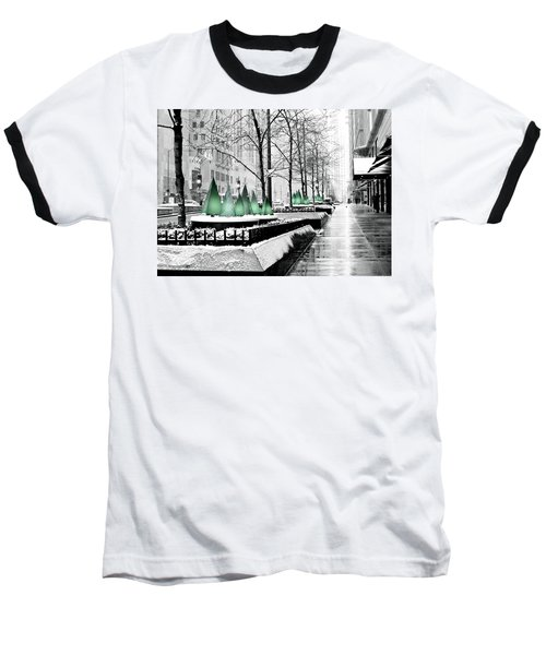 White Mag Mile Christmas Baseball T-Shirt