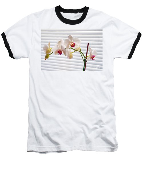 White Orchids On White Baseball T-Shirt