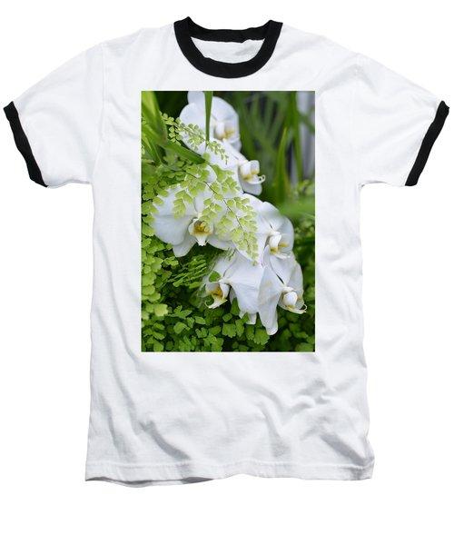 White Orchids Baseball T-Shirt