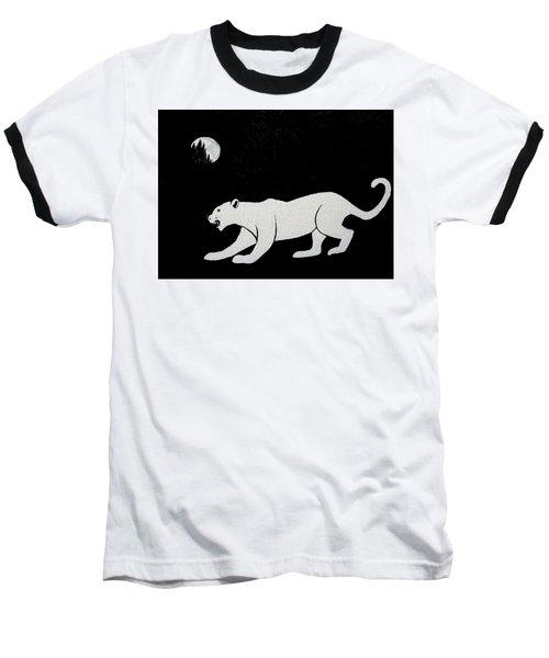 White Panther Baseball T-Shirt