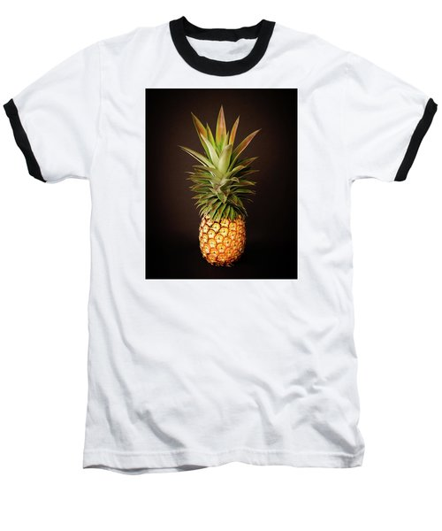 White Pineapple King Baseball T-Shirt