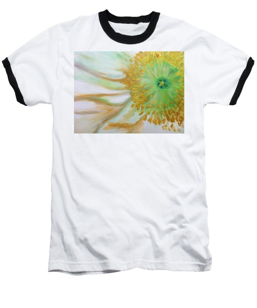 White Poppy Baseball T-Shirt by Sheron Petrie