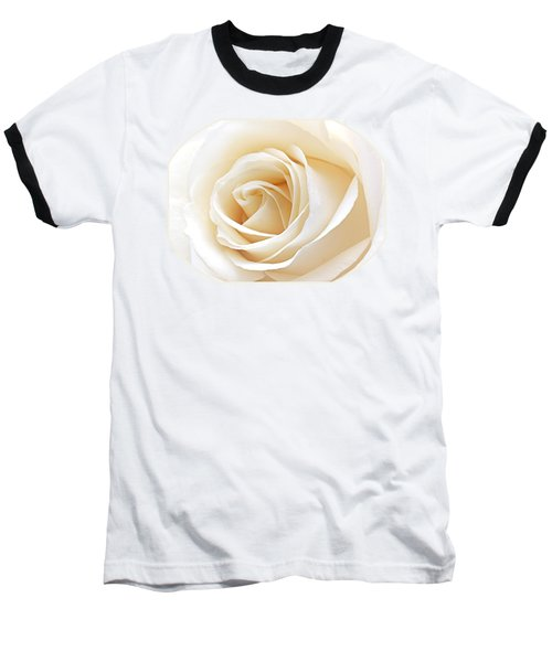 White Rose Heart Baseball T-Shirt