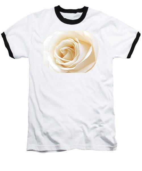 White Rose Heart Baseball T-Shirt