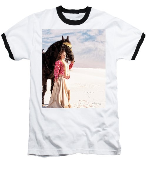 White Sands Horse And Rider #2a Baseball T-Shirt