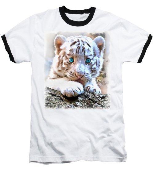 White Tiger Cub Baseball T-Shirt