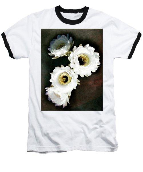White Torch Blooms Baseball T-Shirt