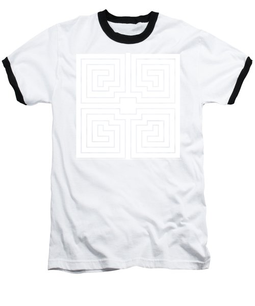 White Transparent Design Baseball T-Shirt