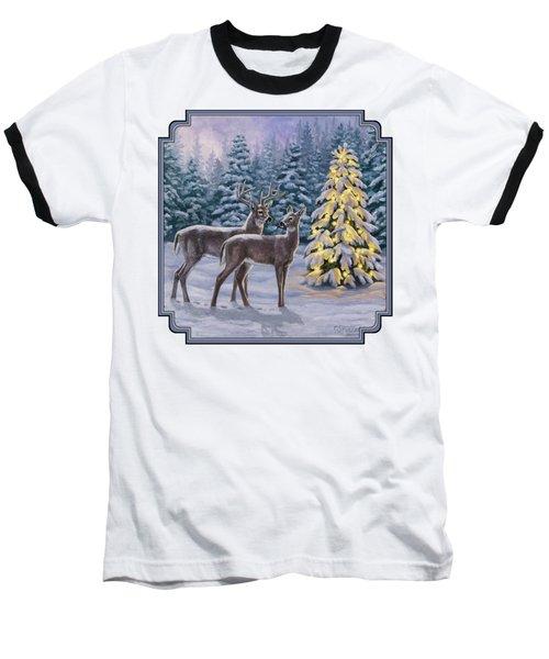 Whitetail Christmas Baseball T-Shirt