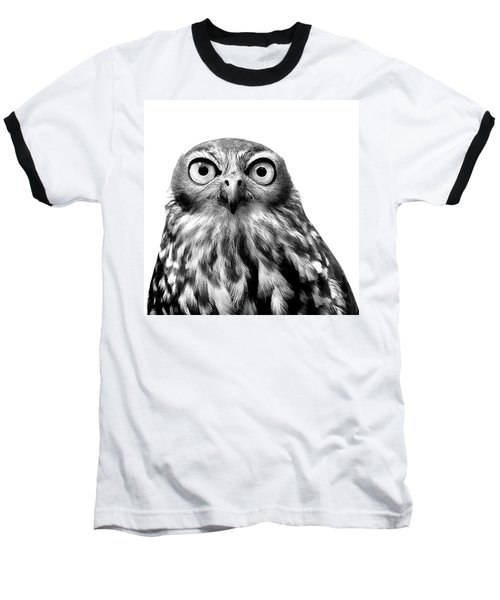 Whoo You Callin A Wise Guy Baseball T-Shirt by Marion Cullen