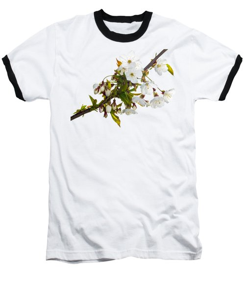 Baseball T-Shirt featuring the photograph Wild Cherry Blossom Cluster by Jane McIlroy