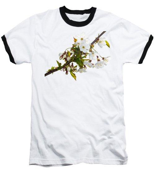 Wild Cherry Blossom Cluster Baseball T-Shirt