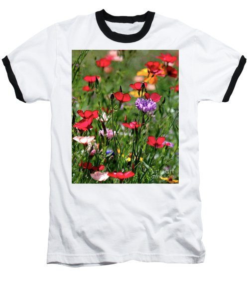 Wild Flower Meadow  Baseball T-Shirt