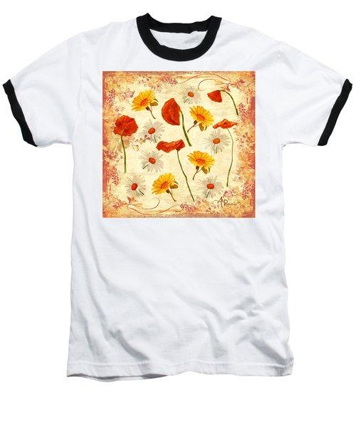 Wild Flowers Vintage Baseball T-Shirt