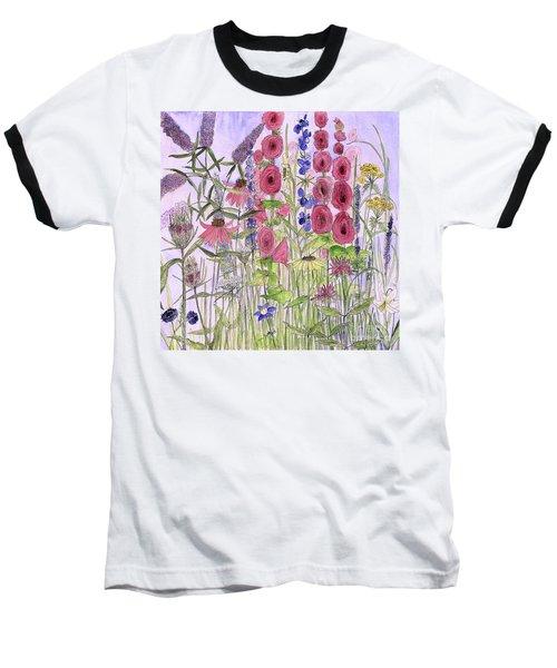 Wild Garden Flowers Baseball T-Shirt