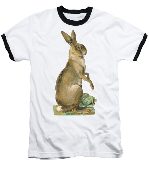 Baseball T-Shirt featuring the digital art Wild Hare by ReInVintaged