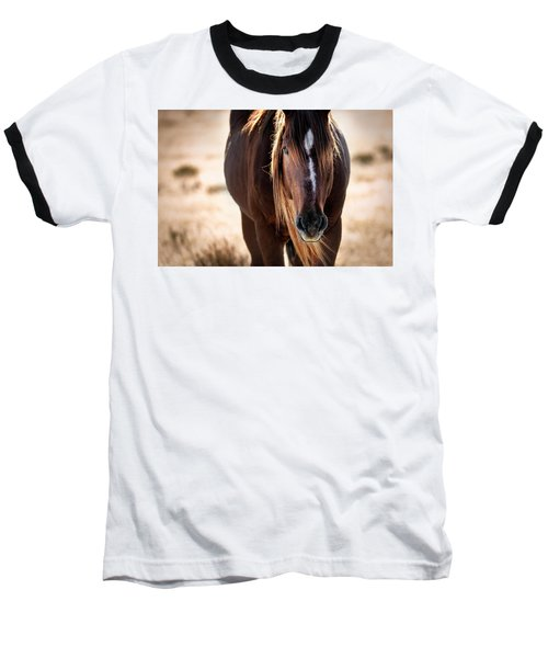 Wild Horse Watching Baseball T-Shirt