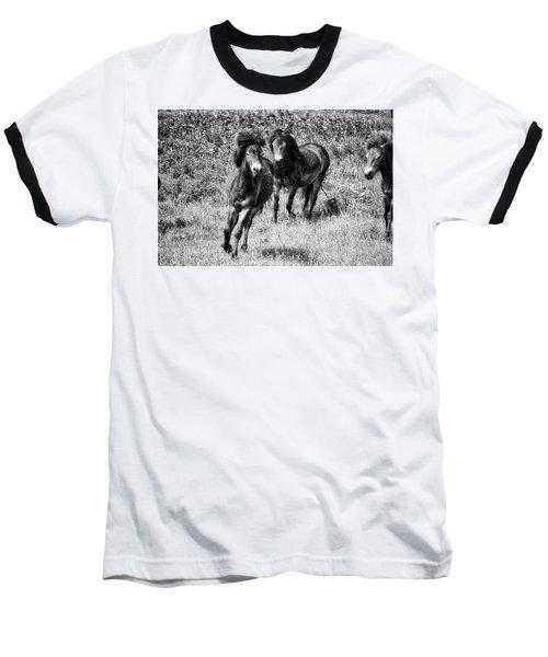 Wild Horses Bw4 Baseball T-Shirt