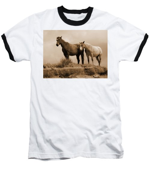 Wild Horses In Western Dakota Baseball T-Shirt