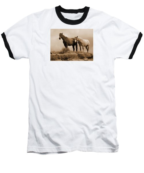 Wild Horses In Western Dakota Baseball T-Shirt