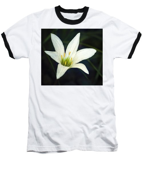 Wild Lily Baseball T-Shirt by Carolyn Marshall