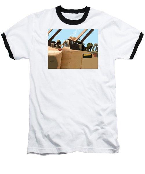 Wild Weasels Baseball T-Shirt by Walter Chamberlain