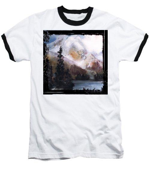 Wilderness Mountain Landscape Baseball T-Shirt by Michele Carter