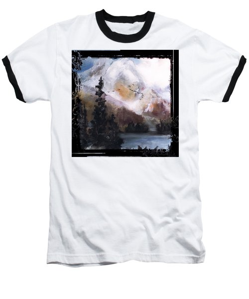 Wilderness Mountain Landscape Baseball T-Shirt