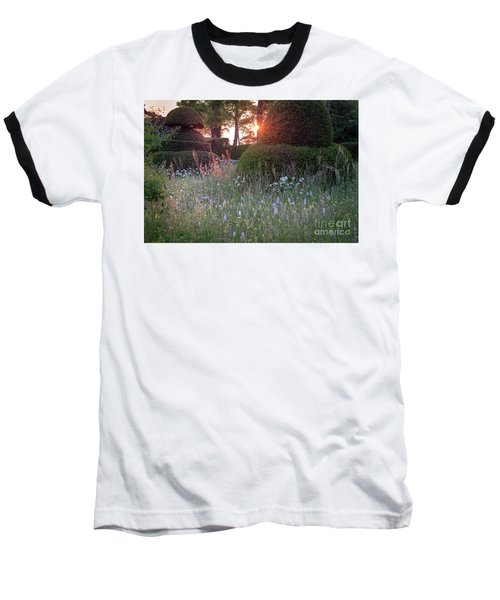 Baseball T-Shirt featuring the photograph Wildflower Meadow At Sunset, Great Dixter by Perry Rodriguez