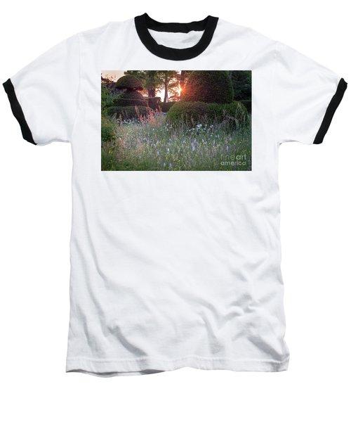 Wildflower Meadow At Sunset, Great Dixter Baseball T-Shirt