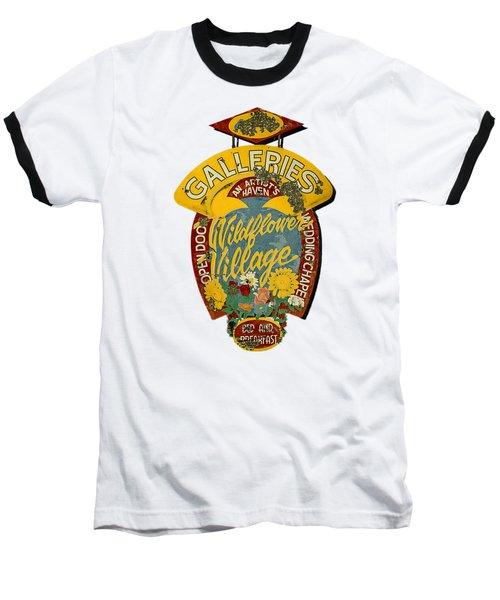 Wildflower Village Baseball T-Shirt by Rick Mosher