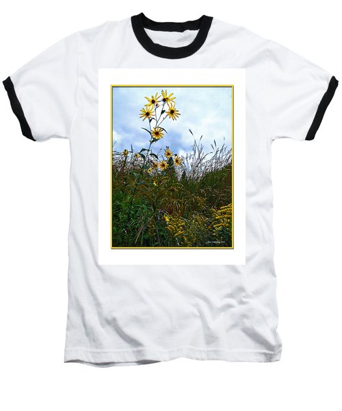 Baseball T-Shirt featuring the photograph Wildflowers And Mentor Marsh by Joan  Minchak