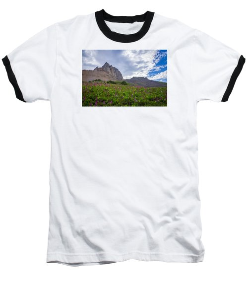 Baseball T-Shirt featuring the photograph Wildflowers In The Grand Tetons by Serge Skiba