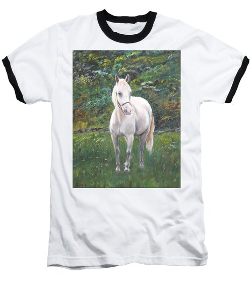 Baseball T-Shirt featuring the painting Willow by Elizabeth Lock