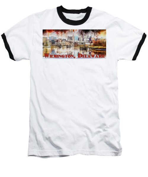 Wilmington City Lights Baseball T-Shirt by Kai Saarto