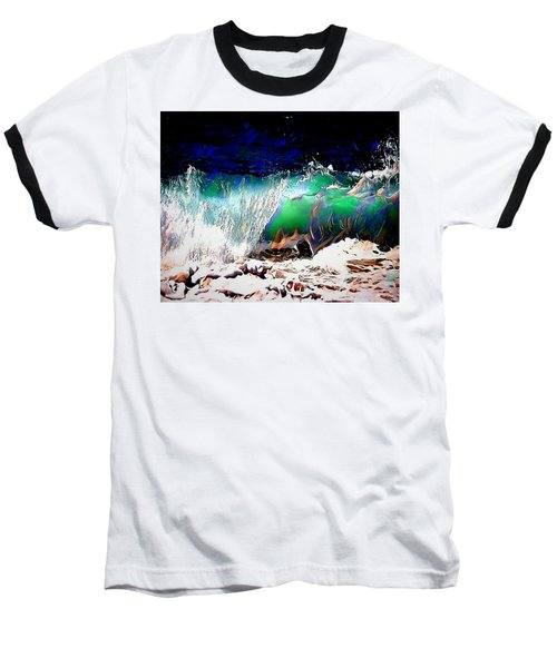 Wind And Waves Baseball T-Shirt by Pennie  McCracken
