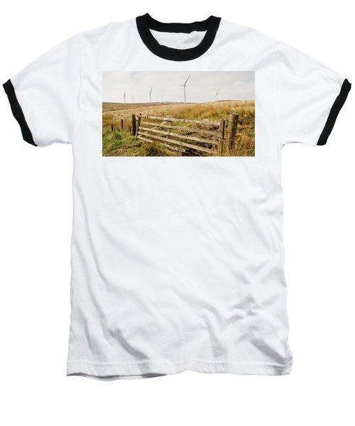 Wind Farm On Miller's Moss. Baseball T-Shirt