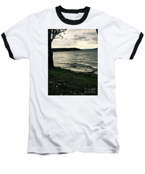 Wind Followed By Waves Baseball T-Shirt