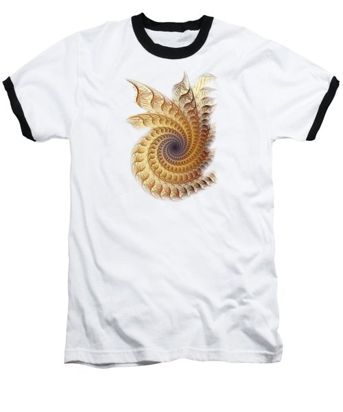 Baseball T-Shirt featuring the digital art Winding by Anastasiya Malakhova
