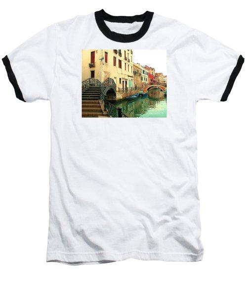 Winding Through The Watery Streets Of Venice Baseball T-Shirt by Barbie Corbett-Newmin