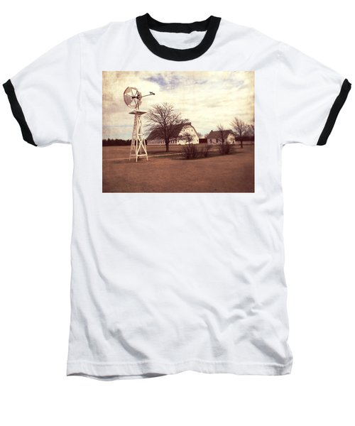 Baseball T-Shirt featuring the photograph Windmill At Cooper Barn by Julie Hamilton