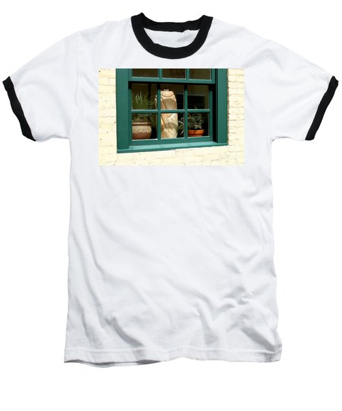Baseball T-Shirt featuring the photograph Window At Sanders Resturant by Steve Augustin