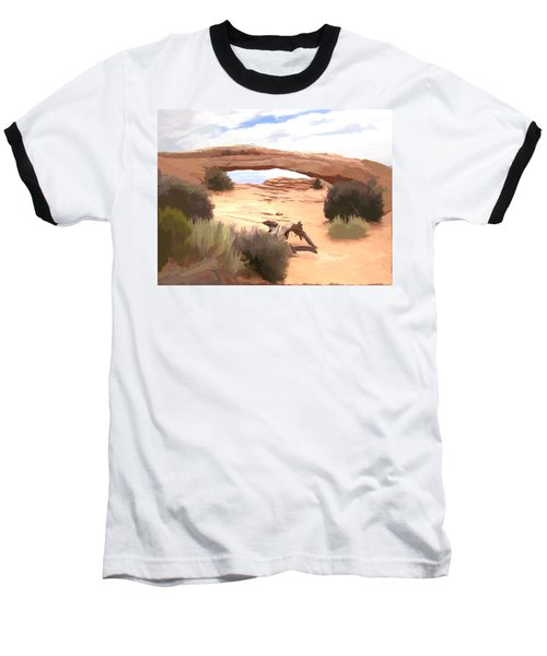 Baseball T-Shirt featuring the digital art Window On The Valley by Gary Baird