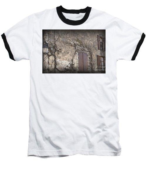 Windows Among The Vines Baseball T-Shirt by Victoria Harrington