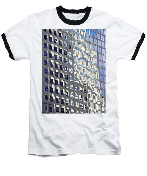 Baseball T-Shirt featuring the photograph Windows Of 2 World Financial Center 2 by Sarah Loft