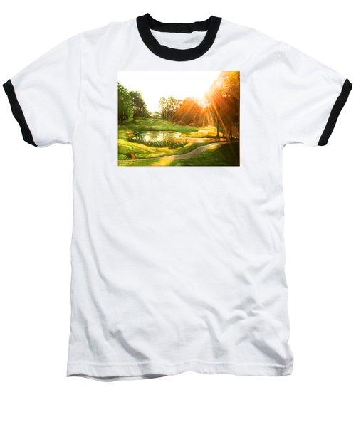 Windstone 13th Green Baseball T-Shirt by Janet McGrath