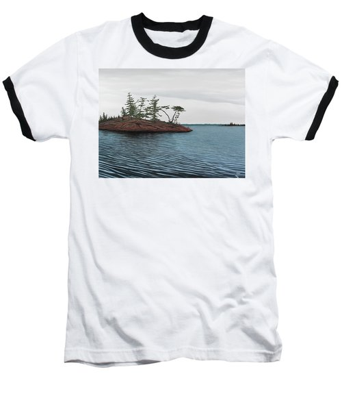 Windswept Island Georgian Bay Baseball T-Shirt